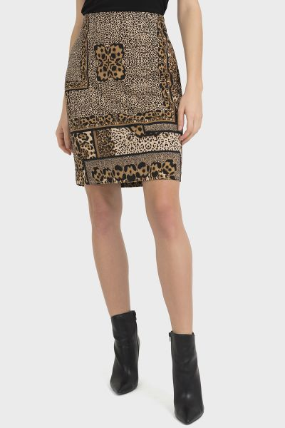 Joseph Ribkoff Black/Beige Skirt Style 194715