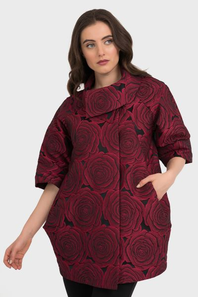 Joseph Ribkoff Black/Red Coat Style 194752