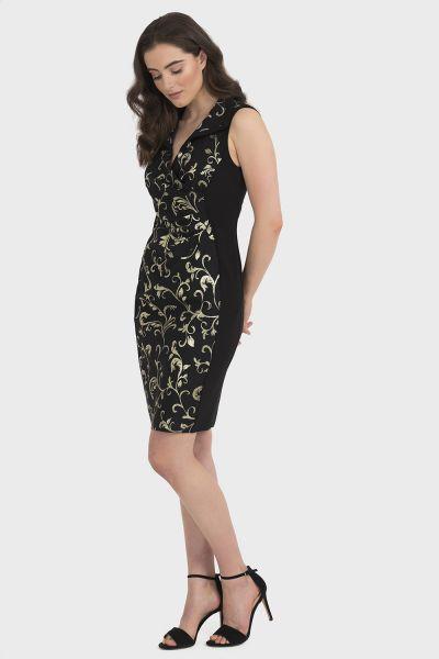 Joseph Ribkoff Black/Gold Dress Style 194772