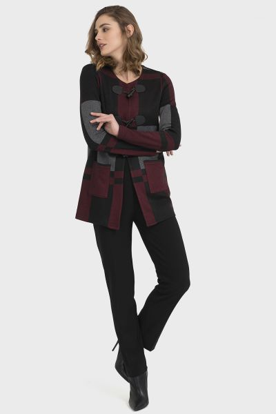 Joseph Ribkoff Black/Multi Jacket Style 194785