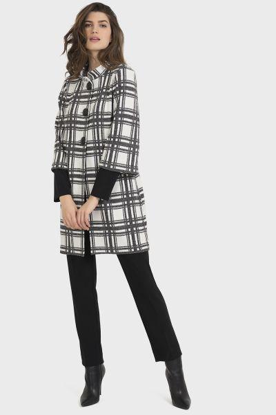 Joseph Ribkoff Black/Multi Coat Style 194836