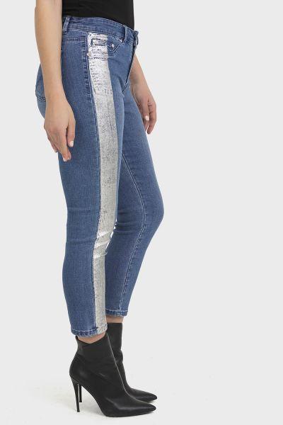 Joseph Ribkoff Blue Denim Pants Style 194944