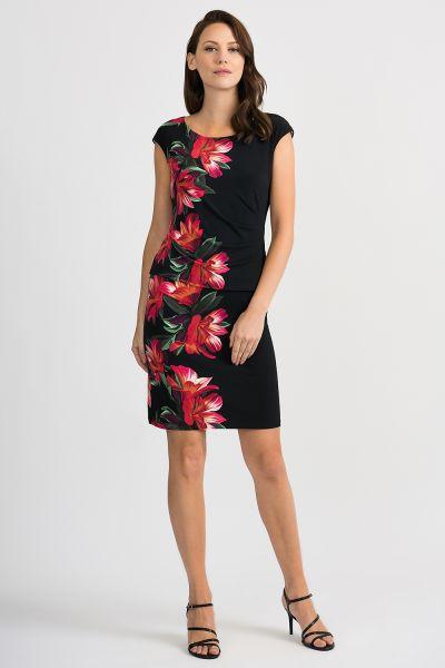 Joseph Ribkoff Black/Multi Dress Style 201001