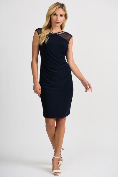 Joseph Ribkoff Midnight Blue Dress Style 201004 -1