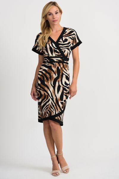Joseph Ribkoff Black/Multi Dress Style 201005