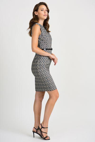 Joseph Ribkoff Grey/Black/Multi Dress Style 201006