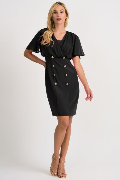 Joseph Ribkoff Black Dress Style 201007
