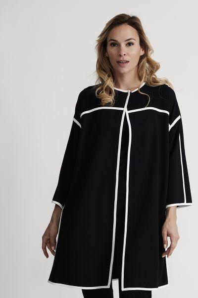 Joseph Ribkoff Black/Vanilla Coat Style 201039