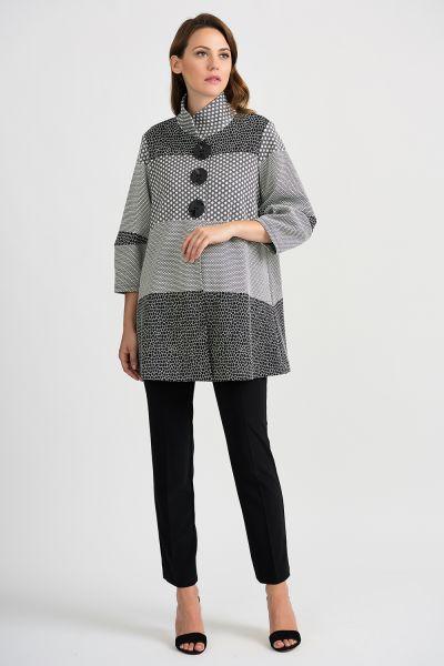 Joseph Ribkoff Grey/Multi Coat Style 201063