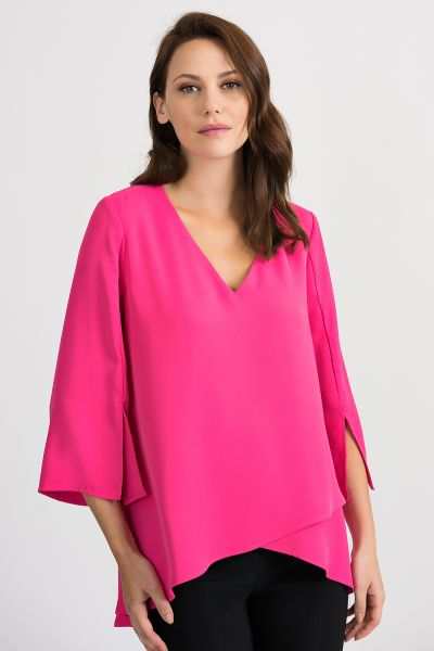 Joseph Ribkoff Hyper Pink Top Style 201085
