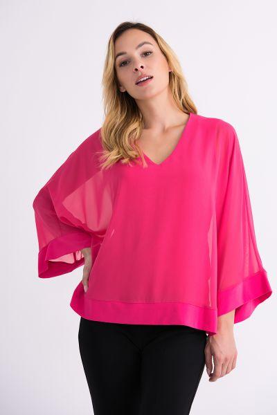 Joseph Ribkoff Hyper Pink Top Style 201086