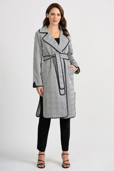 Joseph Ribkoff Grey/Black Coat Style 201092