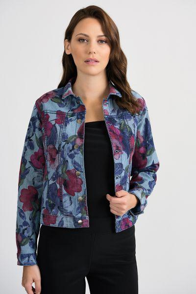 Joseph Ribkoff Denim Blue Reversible Jacket Style 201104