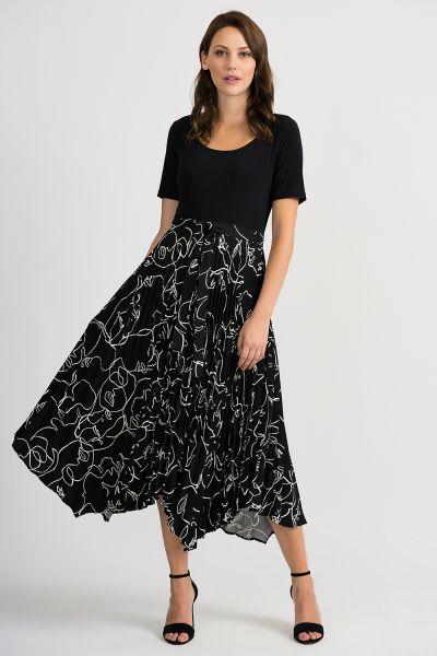Joseph Ribkoff Black/Vanilla Dress Style 201107