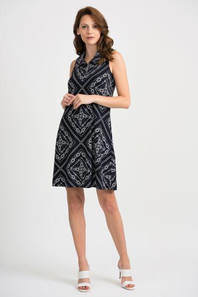 Joseph Ribkoff Midnight/Vanilla Dress Style 201114