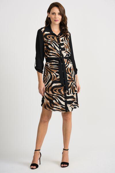 Joseph Ribkoff Black/Multi Dress Style 201118