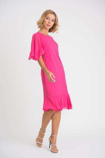 Joseph Ribkoff Hyper Pink Dress Style 201153