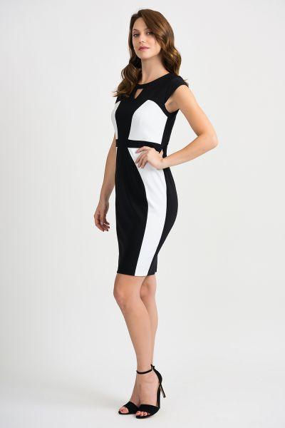 Joseph Ribkoff Black/Vanilla Dress Style 201156