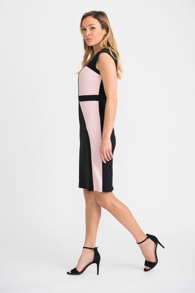 Joseph Ribkoff Black/Rose Dress Style 201156