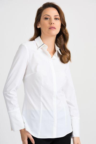 Joseph Ribkoff White Blouse Style 201159