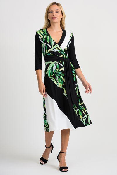 Joseph Ribkoff Black/Multi/Vanilla Dress Style 201175