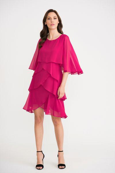 Joseph Ribkoff Hyper Pink Dress Style 201176