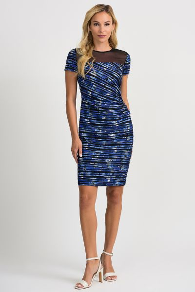 Joseph Ribkoff Black/Blue Dress Style 201179