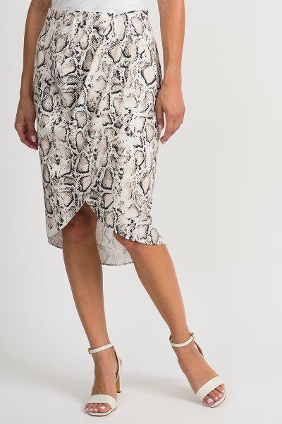 Joseph Ribkoff Beige/Black Skirt Style 201204
