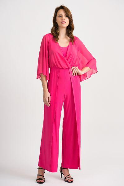 Joseph Ribkoff Hyper Pink Jumpsuit Style 201224