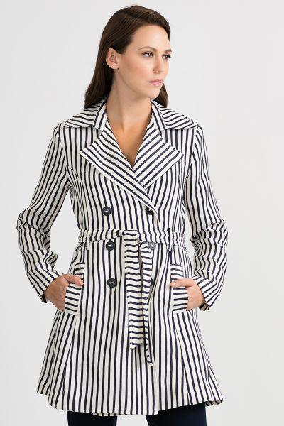 Joseph Ribkoff Navy/Off-White Coat Style 201253