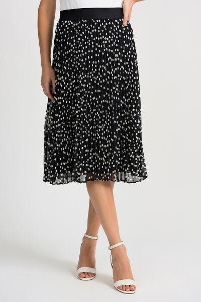 Joseph Ribkoff Black/Vanilla Skirt Style 201255