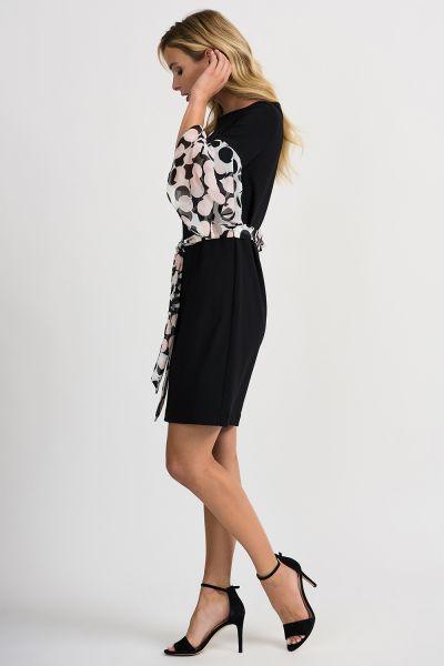 Joseph Ribkoff Vanilla/Black Dress Style 201264