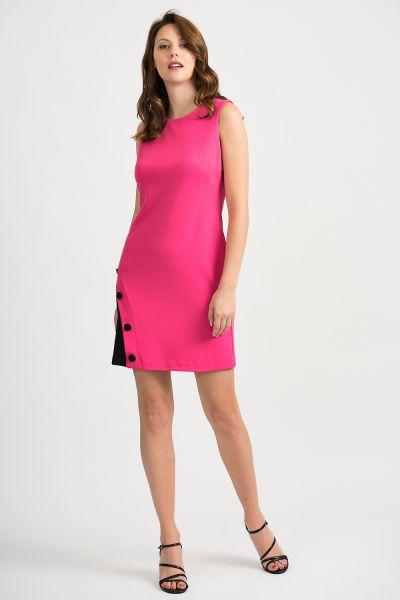 Joseph Ribkoff Hyper Pink/Black Dress Style 201266