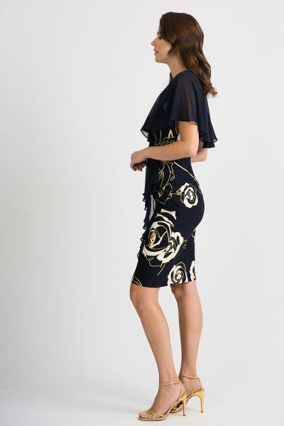 Joseph Ribkoff Midnight Blue/Vanilla Dress Style 201269