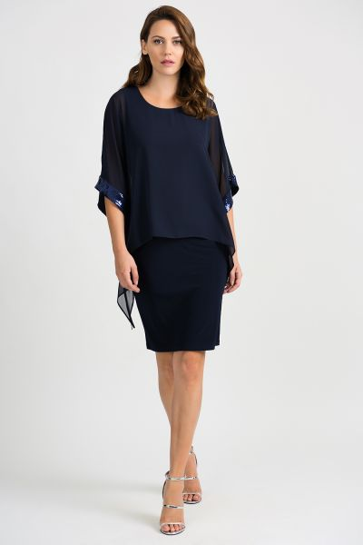 Joseph Ribkoff Midnight Blue Dress Style 201273