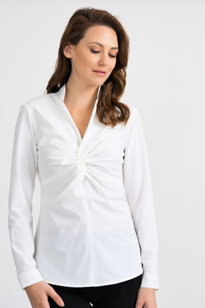 Joseph Ribkoff White Blouse Style 201281