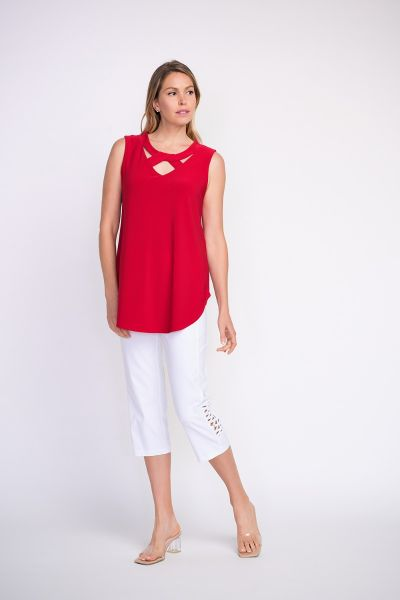 Joseph Ribkoff Red Tunic Style 201284