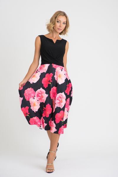 Joseph Ribkoff Black/Multi Dress Style 201289