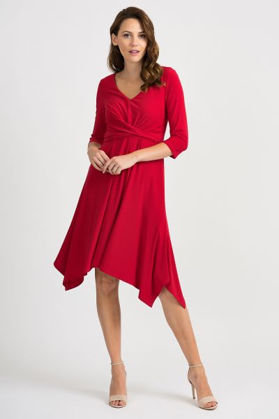 Joseph Ribkoff Lipstick Red Dress Style 201295