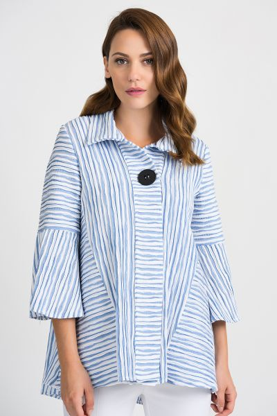 Joseph Ribkoff White/Blue Jacket Style 201309