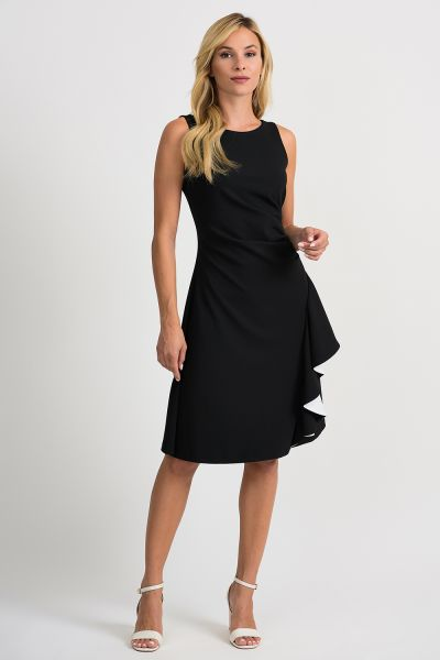 Joseph Ribkoff Black/Vanilla Dress Style 201319