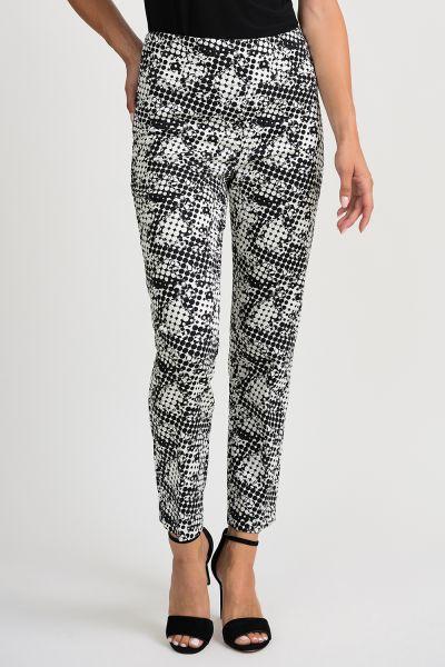 Joseph Ribkoff Black/Vanilla Pant Style 201353