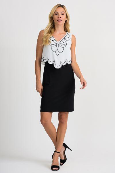 Joseph Ribkoff Black/Vanilla Dress Style 201361