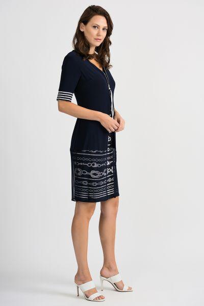 Joseph Ribkoff Midnight Blue/Vanilla Dress Style 201365