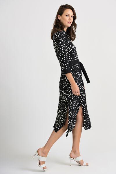 Joseph Ribkoff Black/Vanilla Dress Style 201387