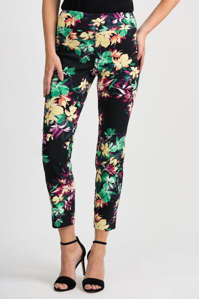 Joseph Ribkoff Black/Multi Pants Style 201390
