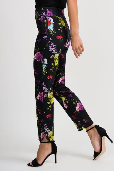 Joseph Ribkoff Black/Multi Pant Style 201399