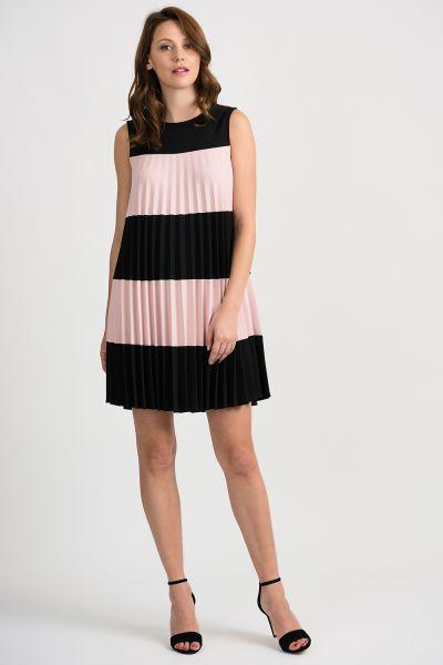 Joseph Ribkoff Black/Rose Dress Style 201402