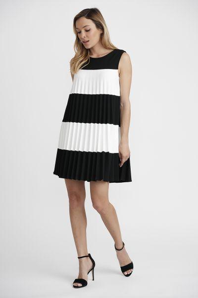 Joseph Ribkoff Black/Vanilla Dress Style 201402