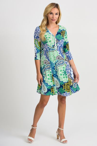 Joseph Ribkoff Blue/Multi Dress Style 201408